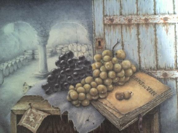 Die Romanze von Trauben aus der Provence.  Douceur Pastelle