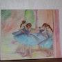 Les Danseuses Bleues à la manière de Edgar Degas. Anny Valadon