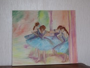 Les Danseuses Bleues à la manière de Edgar Degas.