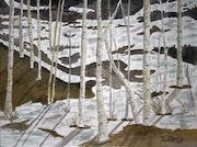 Aspen trees landscape painting. Derek McCrea