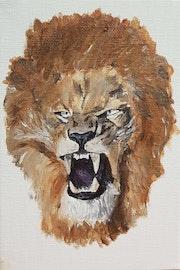Lion en colere.