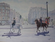 Mi ultimo cuadro (Policia en Trafalgar square). Bienvenido Garcia Arozamena