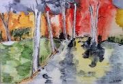 Forêt en feu. Marie-France Razin