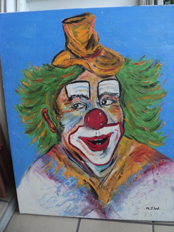 Clown au chapeau. Nicole Ramoin Nojow