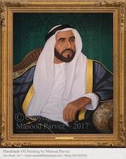 H. H. Sheikh Zayed Bin Sultan Al Nahyan. Masood Parvez