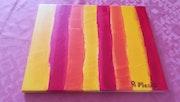 Rayures coloré. Anne Marie Layeux