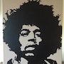 A portrait of Jimi Hendrix. Kevin Morgan