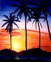 Crépuscule Guadeloupe.