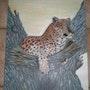 Le leopard sur l'arbre. Marie Patrigeon