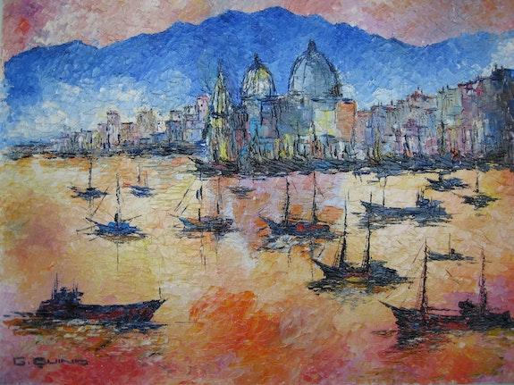 Venise Saint Marc La rade (1987). Quinio