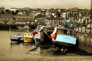 In safe harbour, boats in Scarborough Harbour.. Aakschipper Images