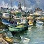 Bateaux de pêche au port du Croisic en Bretagne. R Ricart