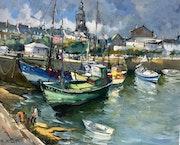 Bateaux de pêche au port du Croisic en Bretagne.