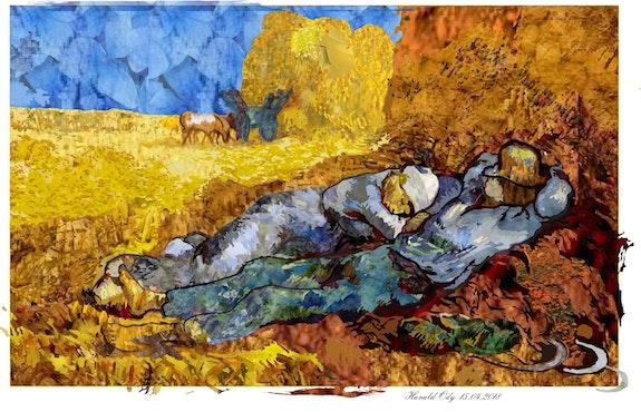 Van Gogh. Repos à la récolte. Réplique. Harald Ody Blende18