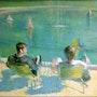 Au bord du bassin. Paul Régnier
