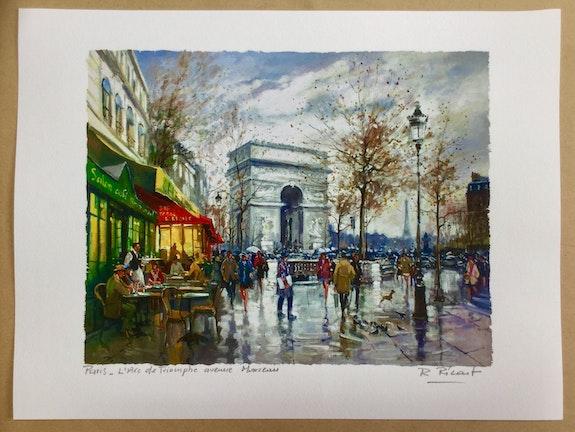 Paris. L' Arc de Triomphe avenue Marceau. Robert Ricart R Ricart