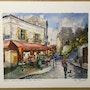 Paris. Montmartre. Le Bar des amis. R Ricart