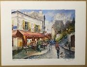 Paris. Montmartre. Le Bar des amis.