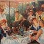 Le déjeuner des canotiers de l'oeuvre de Renoir. Jean-Claude Kempczynski