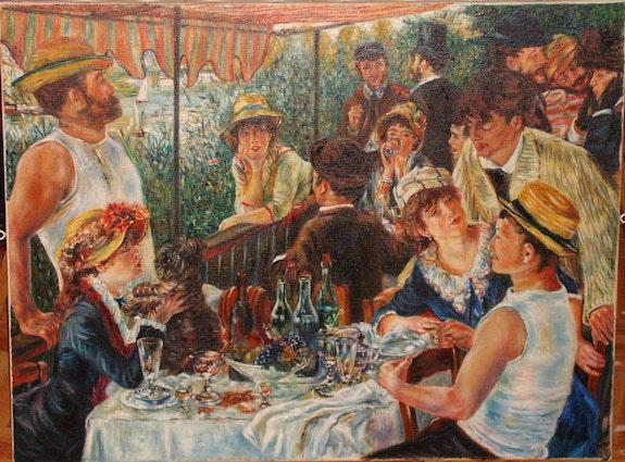 Le déjeuner des canotiers de l'oeuvre de Renoir. Kempczynski Jclaude Jean-Claude Kempczynski