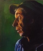 Clair- obscur, portrait de paysan.
