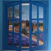 Vue de Provence par ma fenêtre. Anne Van Der Haegen