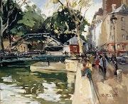 Paris. Le Canal saint Martin.