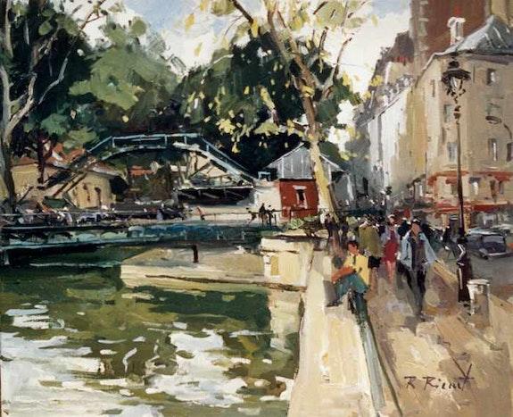 Paris. Le Canal saint Martin. Robert Ricart R Ricart