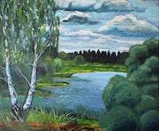 Seenlandschaft bei Zeust.