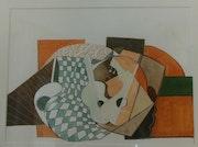 Composition cubiste 2018 - original signé. Nila