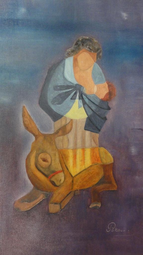La Mère, l'Enfant et l'Ane. Patricia De Chadois Patricia De Chadois