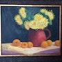 Golden daisies and apricots. Saule Abdramanova