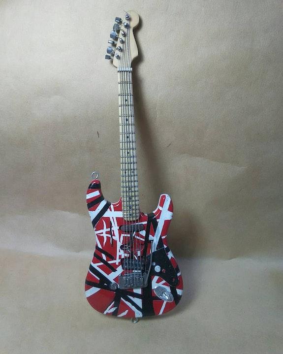 Frankenstrat miniature guitar / Guitarra miniatura 20cm. Francisco Porras Frankcrafts