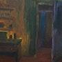 The Room, oil on wood-plate. Emre Altındağ