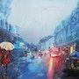 Edgar Mabboux - Vevez Huile sur toile 60 X 81cm