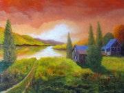 Le chalet du lac. C. G.