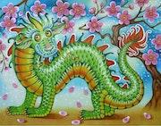Talisman Dragon Porte bonheur Lucky charm. Inessa Talvet