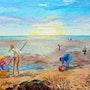 Peintre - «Plénitude» peinture à l'huile au couteau format 73x54 cm