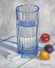 Glass of Water, Cherry Tomatoes and Sugar.