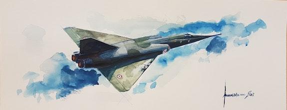 Mirage 4p. François Baldinotti Forangeart F. Baldinotti Peintre De l'air