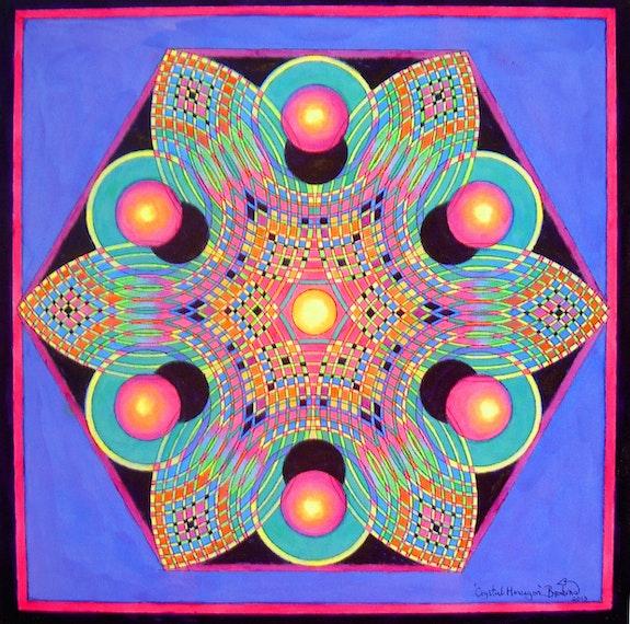 Crystal mandala.  Brahma Templeman