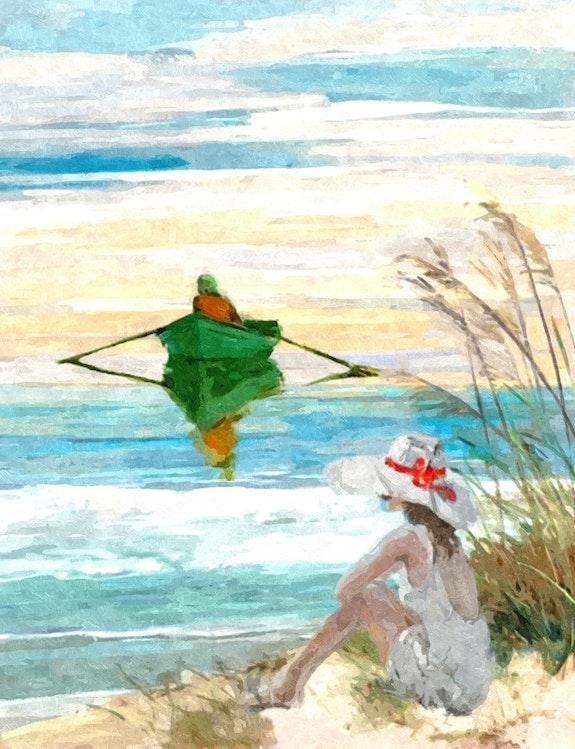 La Barque à Rames. Kindler Jean-Jacques Jean-Jacques Kindler
