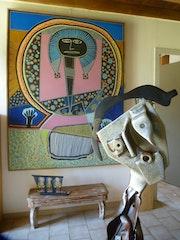 Peinture: bain de parade et sculpture: l'isolé. Richard Métais