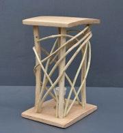 Lampe «Eco-Design» en bois forgé.