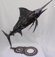 Sculpture en métal inoxydable. Benedicte Noviant