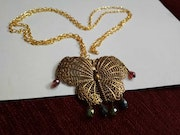 Butterfly traditional necklace. Jewel Eternelle