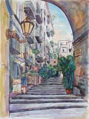 Il vicolo. Arte Italiana