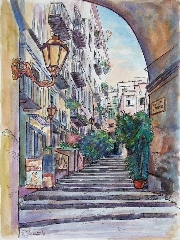 Il vicolo. Umberto Cesino Arte Italiana