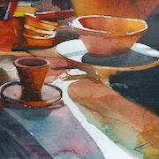 Atelier de poterie.