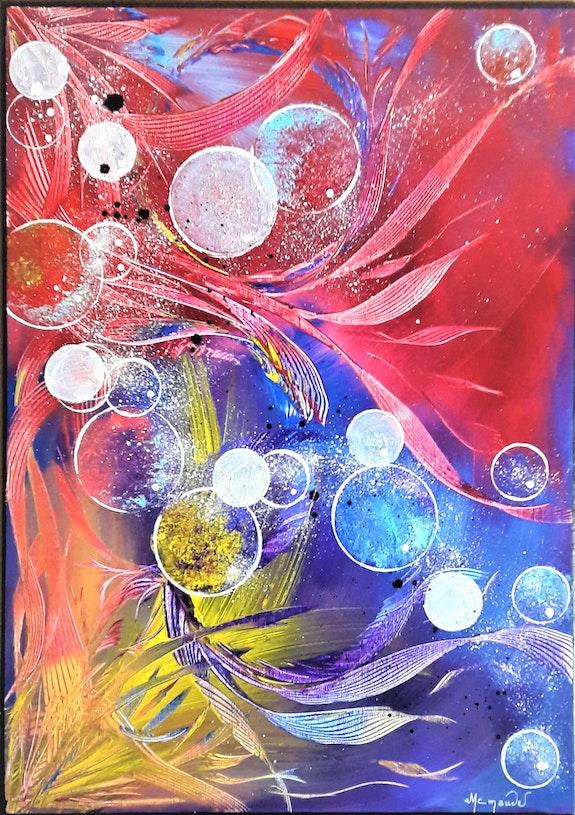 «Fantasy» 70x50x2cm Acrylique sur toile. Marie-Christine Maudet Marie-Christine Maudet